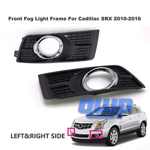 New 2010 2016 Cadillac Srx Front Fog Lamp Light Frame Covers Left Right