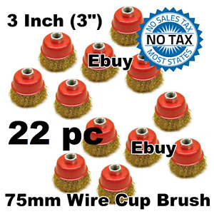 22 Pc 3 X 5 8 Arbor Fine Crimped Wire Cup Brush Angle Grinders Ebuy