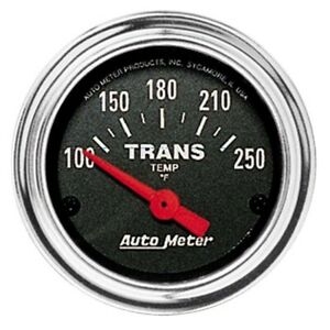 Autometer 2552 Traditional Chrome Air Core Trans Temp Gauge