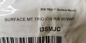 Whelen Led Ion Trio New I3smjc R b W wht Surface Mount Clear