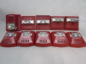 Lot Of 10 Fire Alarm strobe Assorted