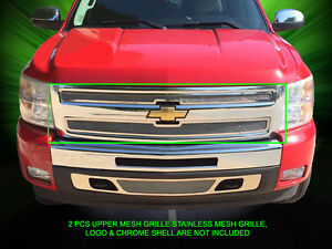 Fedar Fits 2007 2013 Chevy Silverado 1500 Stainless Steel Mesh Grille Upper