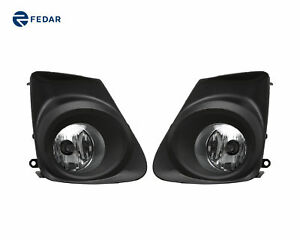 Clear Lens Fog Light Assembly Pair W Bulb Fits 2011 2012 2013 Toyota Corolla