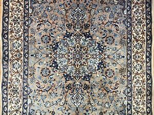 Noble Nain 1960s Vintage Persian Rug Floral Oriental Carpet 5 6 X 8 5 Ft