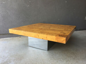 Milo Baughman Burl Coffee Table Thayer Coggin Mid Century Modern Eames Era