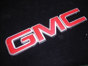 New Gmc Front Grille Emblem Red Chrome Terrain Canyon Sierra Denali Yukon 13 25