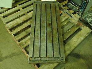 49 5 X 20 25 X 4 75 Steel Weld T slot Table Cast Iron Layout 5 Slot Jig
