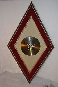 Elgin Wall Clock Diamond Mid Century Modern Danish Modern Wood