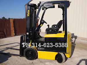 2014 Electric 4250 Lb Yale Forklift Fork Lift Runs Perfect