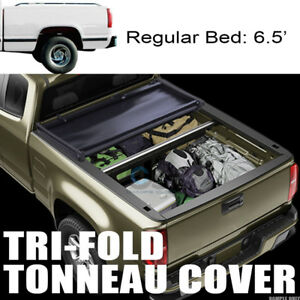 Tri fold Soft Tonneau Cover For 88 00 Chevy C10 C k Silverado 6 5 78 Short Bed