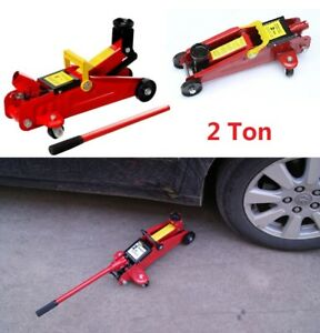 Heavy Duty 2 T Hydraulic Low Profile Floor Jack Lifting Overload Protection Car