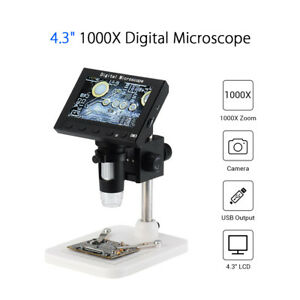 Adjustable 1080p 1000x Digital Microscope Endoscope Magnifier Record With Stand