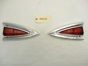 1959 Chevy El Camino Or Wagon Inner Tail Light Bezels And Lenses L