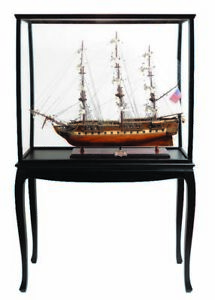 Uss Constitution Old Ironsides Tall Ship 38 Wood Model Boat W Disply Assembled