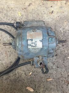 Delta Milwaukee 1 2 Hp Motor 2 Shaft Single Phase Motor 1725 Rpms