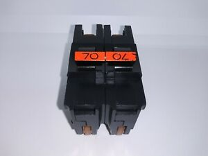 Fpe Federal Pacific Na270 Stab lok 70 Amp 2 Pole Circuit Breaker Thick Red