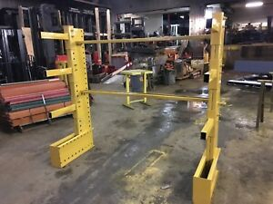 6 Tall Jarke Cantilever Racking 2 Tower Set 6 Wide Overall 3 18 Arms tower