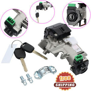 New Ignition Switch Cylinder Lock Auto Trans 2key For 2003 05 Honda Accord Civic