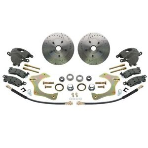 Mustang Ii Complete 11 In Front Disc Brake Kit Drilled Slotted