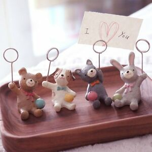 8pcs Place Card Holder Table Photo Memo Number Name Clips Base For Wedding