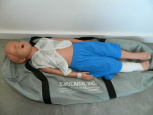 Simulaids Kyle 3 year Old Cpr Training Manikin With Carry Case Caucasian