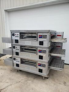 Middleby Marshall Ps555g Q Triple Deck Conveyor Pizza Oven belt Width 32