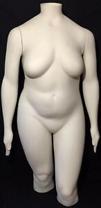 Vintage Jcpenny Standing Display Plus Size Female Mannequin Dress Form Headless
