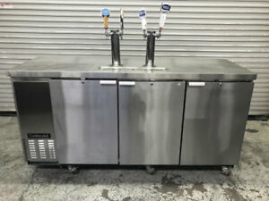 79 Draft Beer Kegerator Keg Cooler Nsf Continental Kc79 s Dispenser Double Tap