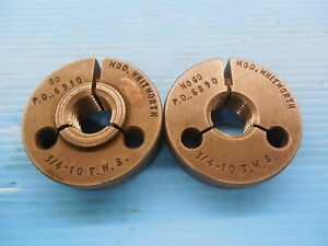 3 4 10 Tws Thread Ring Gages 75 Go No Go Pds 6910 6890 Inspection