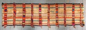 Antique Long Kilim Oriental Rug From Gaza Hand Knotted Wool Persian Runner Rare