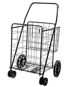 Small Shopping Cart Foldable Collapsible Portable Heavy Duty Grocery Laundry