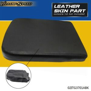 Synthetic Leather Center Console Armrest Cover Black For 2002 2008 Dodge Ram