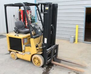 Caterpillar Ec15 Electric 3 000lb Forklift Refurbished Battery And Charger