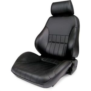 Procar By Scat 80 1000 51ls Rally Smoothback Series 1000 Black Vinyl Seat Left