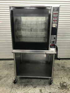 8 Basket Electric Rotisserie Oven Henny Penny Scr 8 9047 Chicken Ribs Rotating
