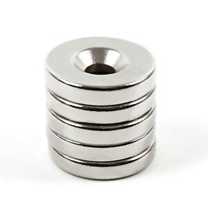 N35 Countersunk Ring Round Disc Strong Magnets Rare Earth Neodymium Hole Lot