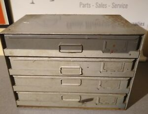 Hardware Parts Cabinet 4 Drawer With Slide Racks