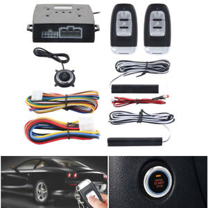Pke Car Alarm System Passive Keyless Entry Push Button Remote Engine Start Trunk