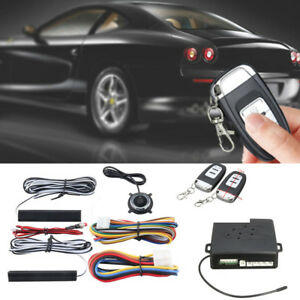 Dc 12v Pke Car Alarm System Passive Keyless Entry Push Button Remote Engine Kit