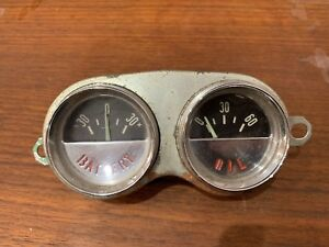 1956 1957 1959 1960 1961 1962 Corvette Battery And Oil Gauges