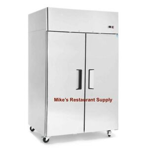 New 2 Door Reach In Freezer 8265 Commercial Restaurant Stainless Steel Etl Nsf