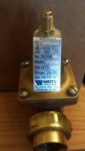 Watts Water Pressure Reducing Valve 3 4 N35b U z3 25 75psi new