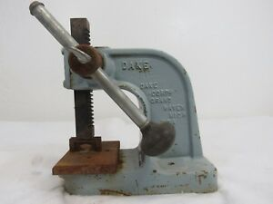 Vintage Dake Model X 1 Ton Arbor Press Usa Made W Handle V4