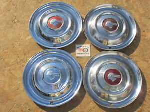 1951 Pontiac Star Chief Chieftain Catalina 15 Wheel Covers Hubcaps Set Of 4
