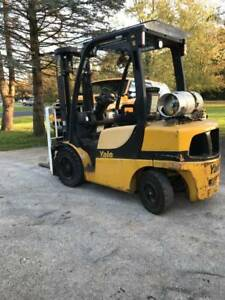 2010 Yale 6 000 Forklift W 2 Stage Mast 42 Forks 10 800 Hours Good Cond