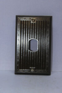 Vintage Despard Ribbed Switch Outlet Cover Wall Plate 1 Gang Single Vertical