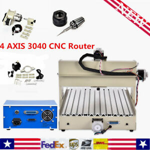 4 Axis 3040 Cnc Router Engraver 400w Wood pcb Drill Carving Engraving Machine Us
