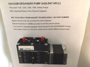Agilent Hplc Binary Degasser Vacuum Pump for Integrated Degasser 1260 1290
