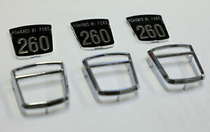 Sunbeam Tiger 3pc 260 Molded Chrome Emblems as Originals 3pc not Printed
