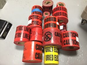 Caution Buried Electric Line Below Tape Huge Lot